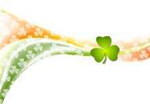 St. Patrick Day Wavy Background With Irish Colors