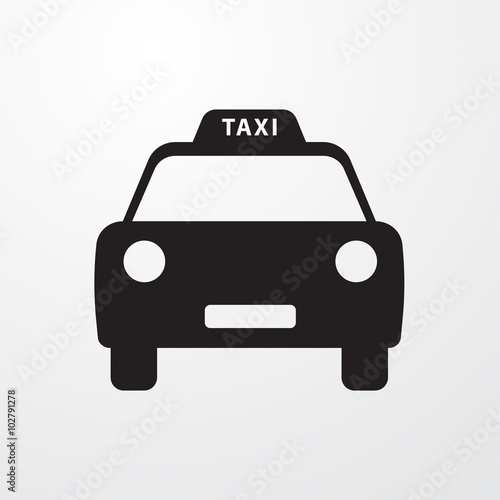 Fotografie, Obraz  Taxi icon for web and mobile.