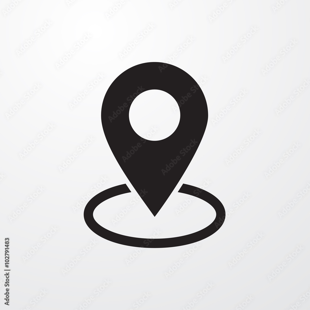 Fototapeta Map pin place marker icon for web
