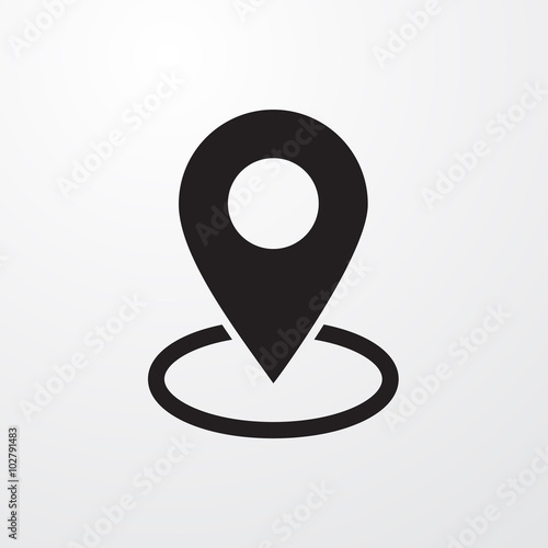 Map pin place marker icon for web Wall mural