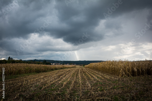 Recess Fitting Village Corn field before the storm