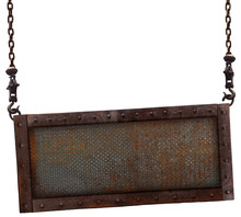 Old Rusted Steel Plate On A Wh...
