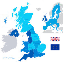 Vector Administrative UK Map