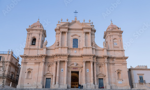 Garden Poster South Africa Basilica Cattedrale di San Nicolò. Roman Catholic cathedral in Noto in Sicily, Italy. Built in the style of the Sicilian Baroque.