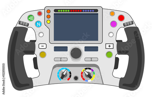 Deurstickers F1 steering wheel F1