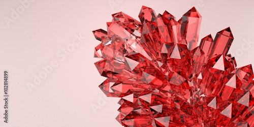 Ruby crystal Fototapet