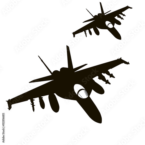 Air strike Canvas Print