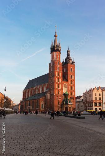 Poster Cracovie St. Mary's Basilica, Krakow Poland