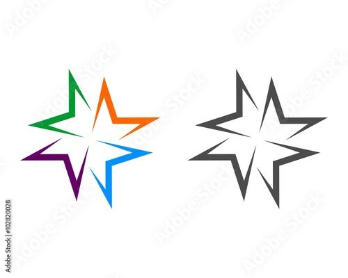 Photo  M Letter Star Logo