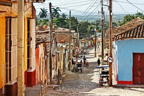 Cuba, Trinidad, Street Scene Poster