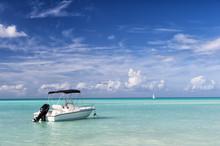 Motor Boat On Water