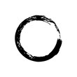 Circle grunge ink spot vector background