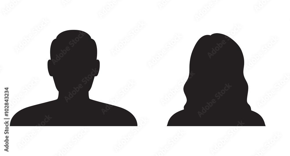 Fototapeta Man and woman silhouette