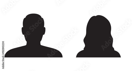 Canvastavla  Man and woman silhouette