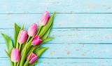 Fototapeta Tulips - Strauß Tulpen Rosa