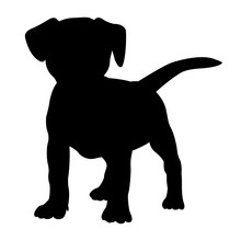 Fox Terrier Puppy Dog Silhouet...