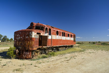 Old Ghan Locomotive In The Aus...