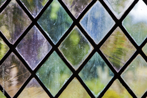 Photo  Colorful Stained Glass