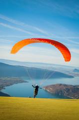 FototapetaParapente au-dessus du lac d'Annecy