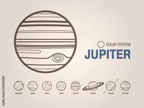 Plakat  Planet Jupiter