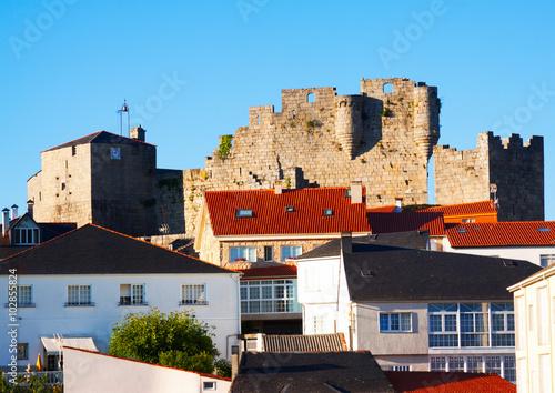 View of Castro Caldelas with castle. Galicia