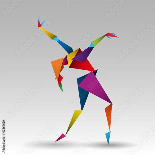 Photo  tańcząca kobieta wektor