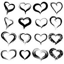 Conceptual Painted Black Heart...
