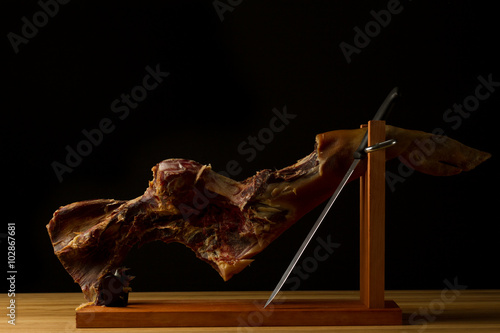 Pinturas sobre lienzo  After party - dried pork leg - spanish ham - jamon
