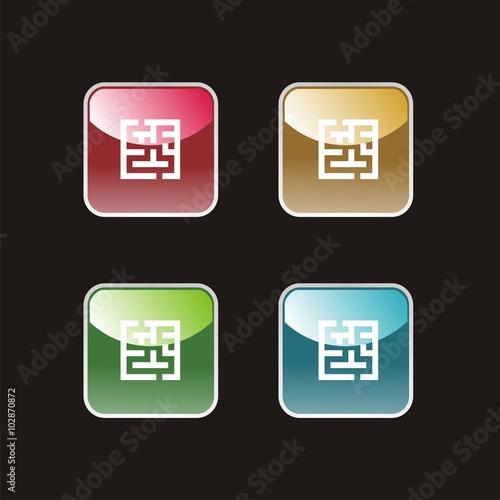 Fotografie, Obraz  Icon maze