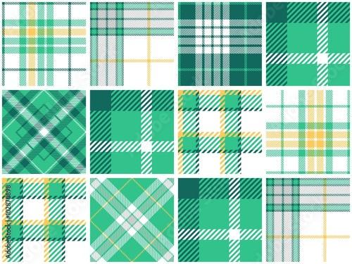 Stampa su Tela Turquoise Plaid Quilt Seamless Pattern