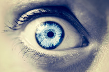 Frightened Female Eye Close Up