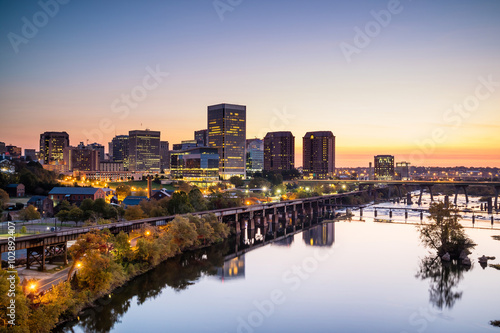 Downtown Richmond, Virginia skyline Canvas Print