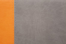 Orange And Grey Leather Texture