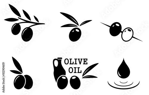 Fotografía  black olive set