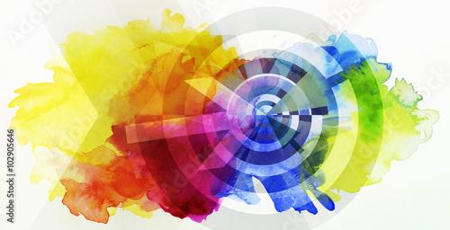 Photo abstrakt ziel farben konzept