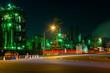 京浜地区・川崎の工場の夕景・夜景