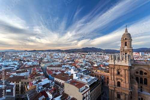 Photo  Centripetal acceleration - Malaga, Andalusia, Spain, view from the roof of build
