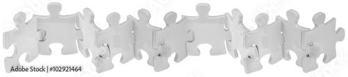 Fotografía puzzle ribambelle, fond blanc