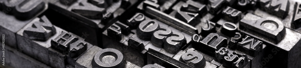 Fototapeta Metal Letterpress Types.