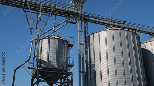 Grain Storage Bins - Buy this stock photo and explore similar images