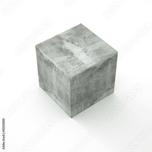 concrete-cube-isolated-on-a-white-plane-original-three-dimensional-illustration