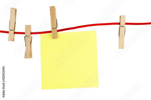Fotografía  blank yellow note