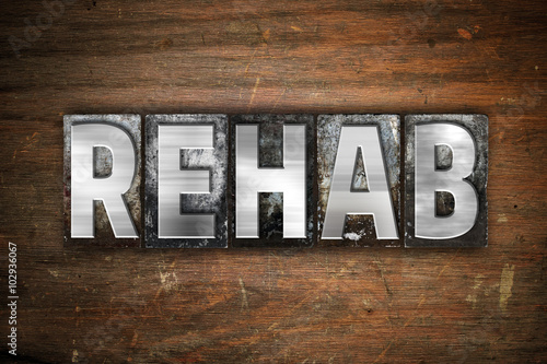 Rehab Concept Metal Letterpress Type Canvas-taulu