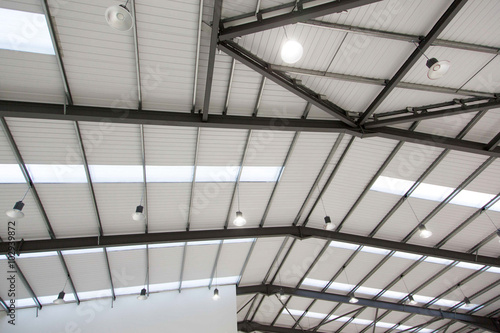 Staande foto Industrial geb. Industrial unit ceiling