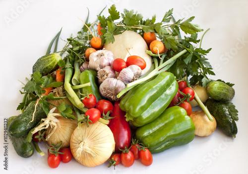 Fototapeta Big crop of vegetables 3 obraz na płótnie