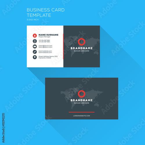 Corporate business card print template personal visiting card with corporate business card print template personal visiting card with company logo clean flat design wajeb Choice Image