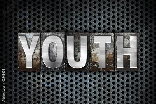 Fotografie, Obraz  Youth Concept Metal Letterpress Type