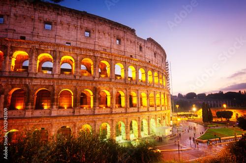 Fotografie, Obraz  Koloseum v Římě, Itálie