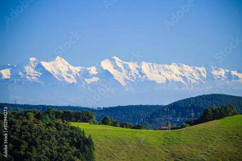 Foto auf Gartenposter Hugel Great view on swiss alps