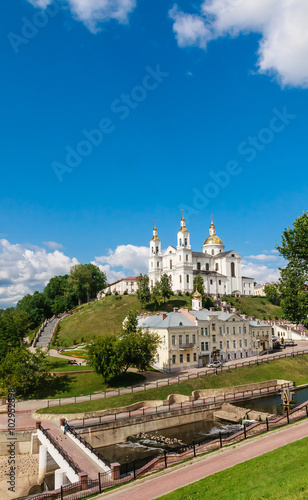 Fototapety, obrazy: Holy Assumption Cathedral of the Assumption on the hill and the